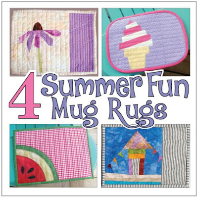 four quilted summer mug rugs book