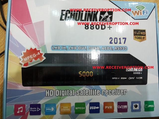 ECHOLINK 880D+ 2017 HD RECEIVER CCCAM OPTION