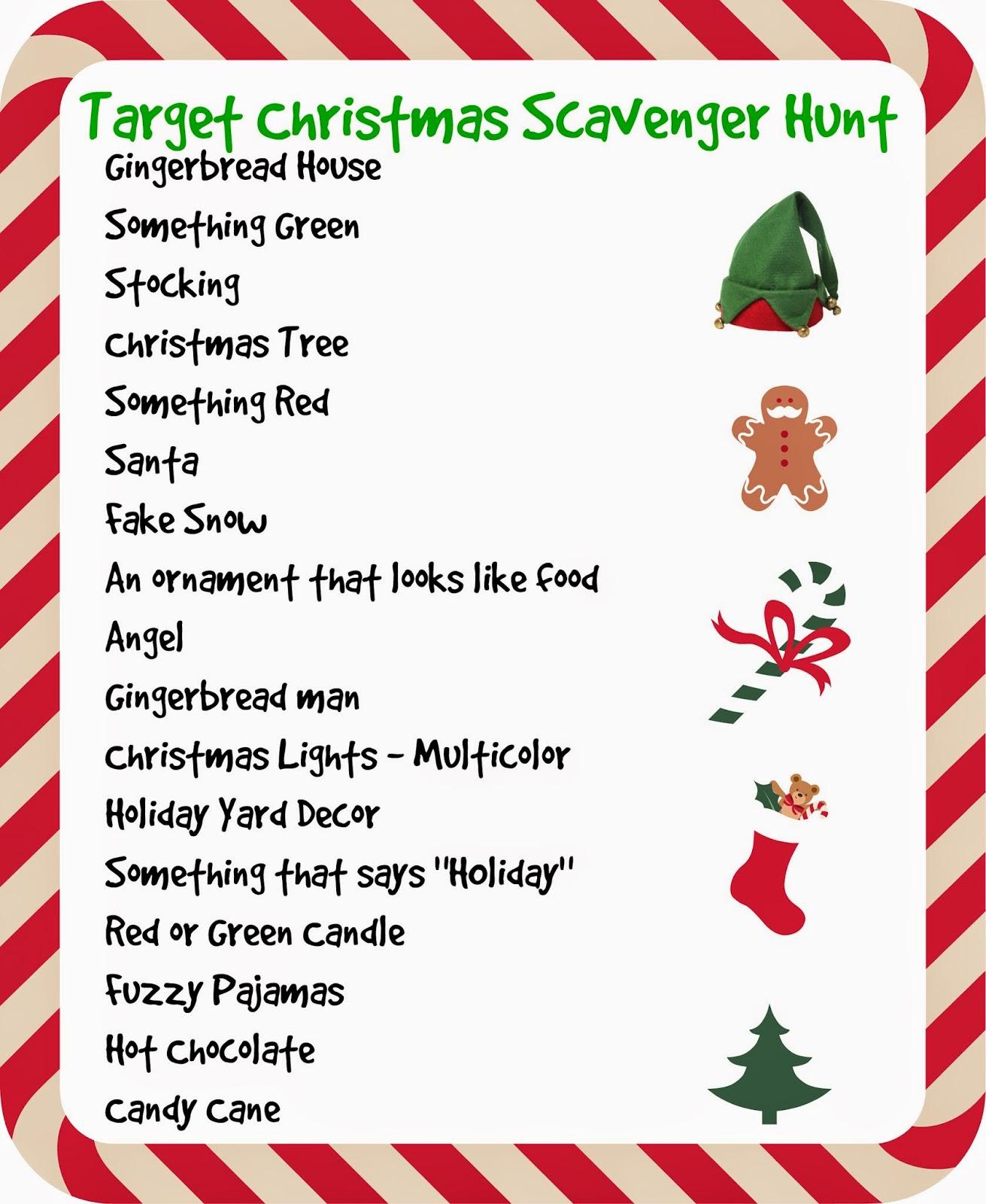 Christmas Scavenger Hunt.Sweetology Target Store Christmas Scavenger Hunt