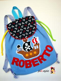 Mochila colegio Barco pirata Roberto Pikapic