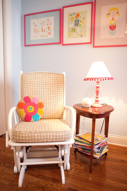 Blue and hot pink bohemian girl room