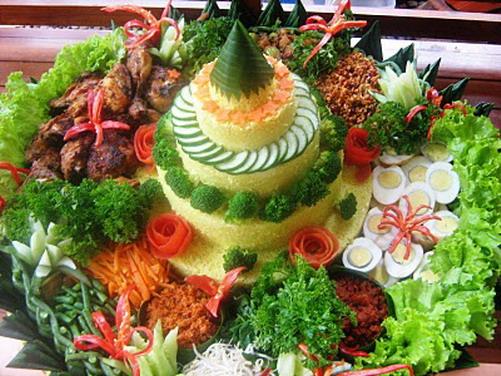 Resep Bikin Masakan Nasi Kuning Komplit Kuliner Wisata