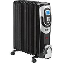 AEG RA 5589 N - Radiador de aceite, 2500 W, 11 elementos, programable, pantalla digital, 3 niveles potencia