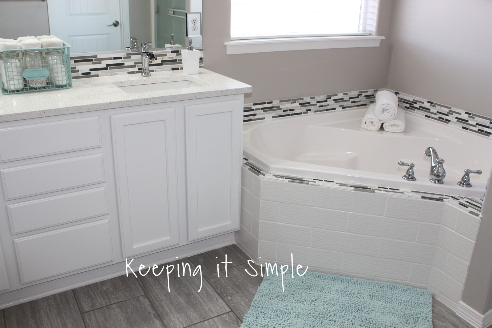 Master Bathroom Makeover with Gray and White Color Scheme • Keeping ...