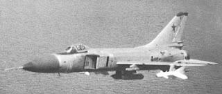 Un Su-15TM armato di gondole con cannoni da 23 millimetri.