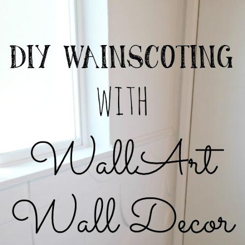 DIY Wainscoting with Wall Art Wall Decor