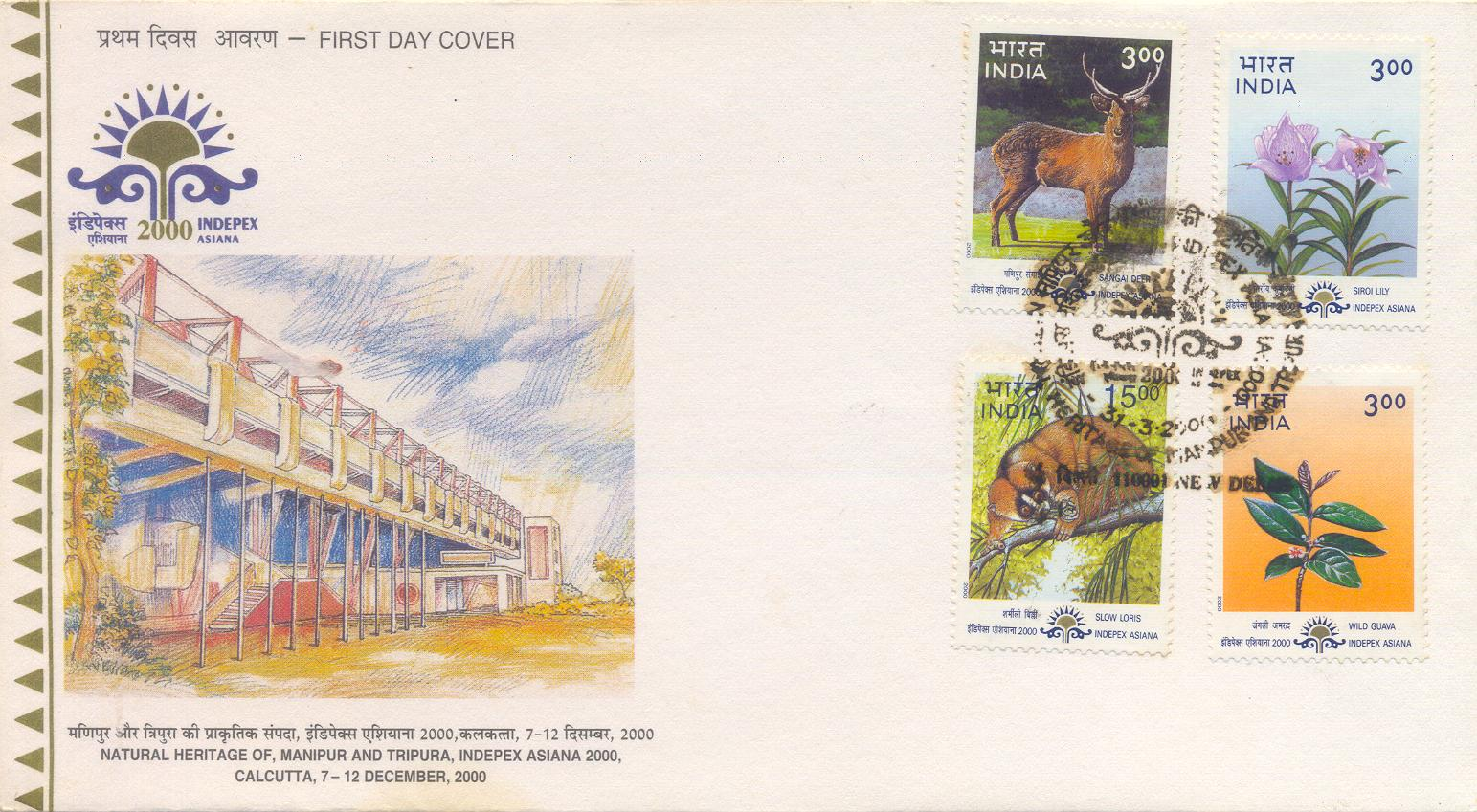 My Indian Stamps and First Day Covers: INDEPEX 2000 ASIANA