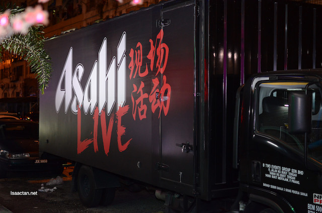 The Asahi Live band truck arrived early