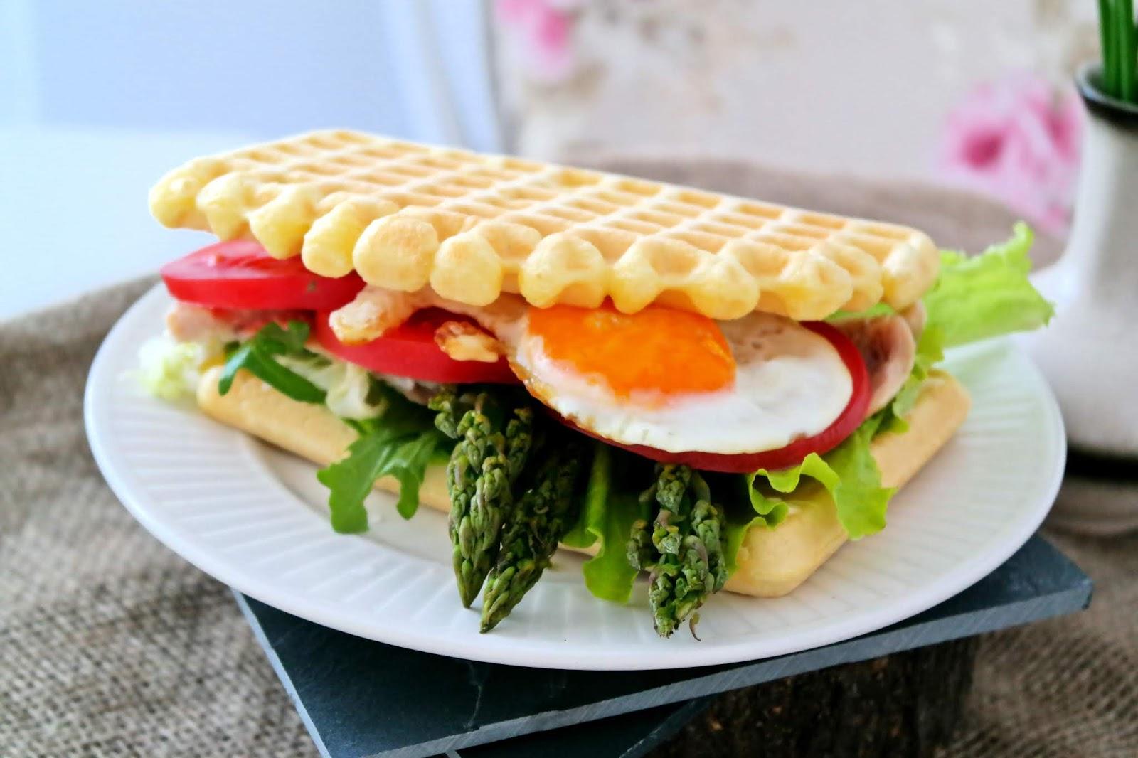 kanapka z gofrów