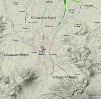 peta bogor kota dan kabupaten bogor (bogor map)