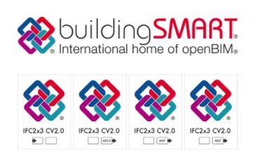 logos de los distintos formatos IFC