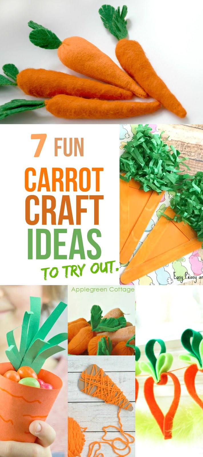 7 Fun Carrot Crafts Ideas For Spring Applegreen Cottage