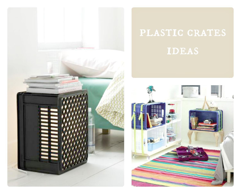 plastic crates diy