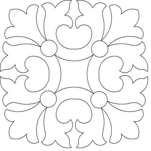Tranh tô màu trang trí hình vuông lớp 6