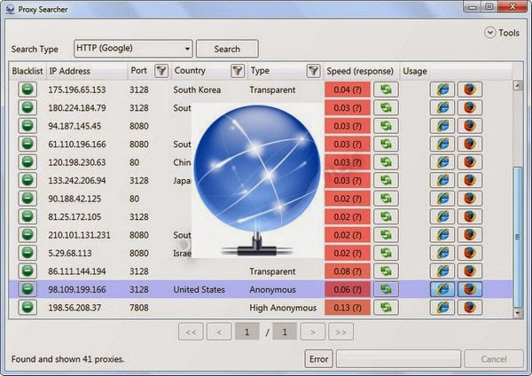 Proxy Searcher 4.2 Free Download