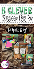 """Paper bags have always been there to hold our """"stuff"""" but it's time to give the paper bag the glory it deserves!  Here are 8 clever classroom uses that'll make you want to """"brown bag"""" it this school year."""