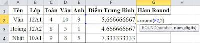 tinhoccoban.net - Hàm Round trong Excel