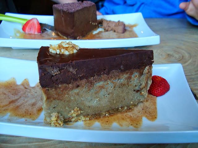 Chocolate Mint Ganache and Chocolate Avocado Dessert at Raw Aura