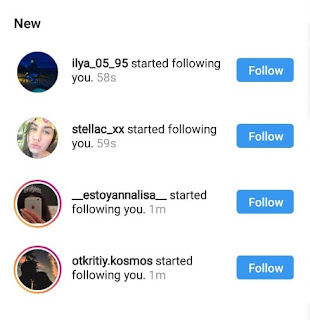 Jumlah pengikut dalam instagram bertambah