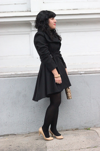 Black Princess Coat Winter Style Inspiration