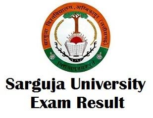 Sarguja University Ambikapur Chhattisgarh Result 2018