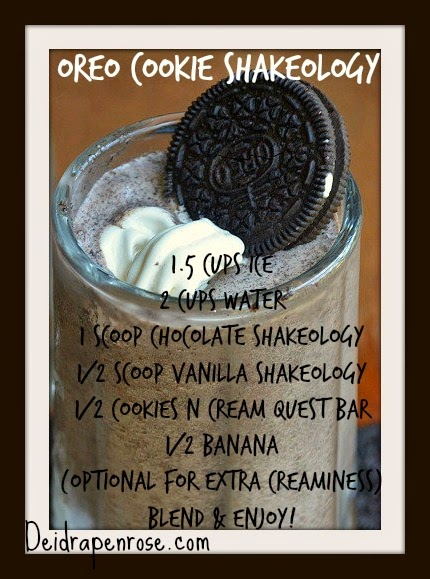 Deidra Penrose, oreo dessert, healthy oreo shake, cookies n cream, cookies n cream shakeology, 7 star elite diamond team beach body coach, healthy eating, clean eating, healthy snacks, meal planning, meal replacement shakes, weight loss, health shakes, protein shakes, shakeology