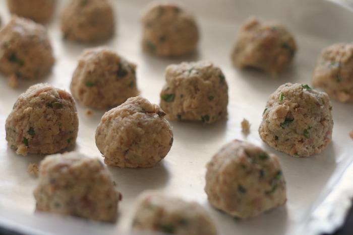 Salmon Meatball Carbonara