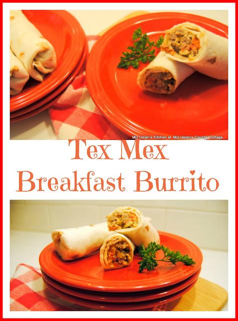 Tex Mex Breakfast Burrito at Miz Helen's Country Cottage