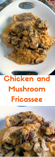 ONE PAN MEAL!! Chicken and Mushroom Fricassee:  The perfect comfort food for a cold winter's night!  Slice of Southern