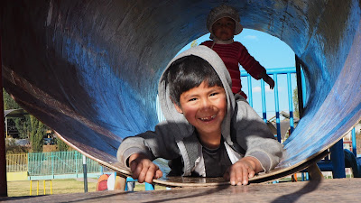 Uno de los niños de la ONG de Cusco