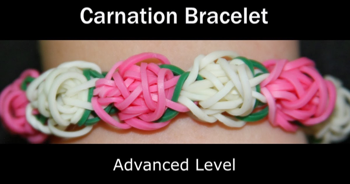 Rainbow Loom Patterns: Carnation Rainbow Loom Pattern