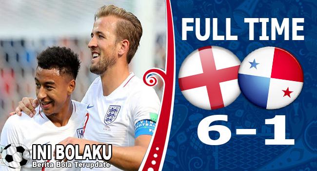 Hasil Inggris vs Panama Skor Akhir 6-1 | Fase Group G World Cup 2018