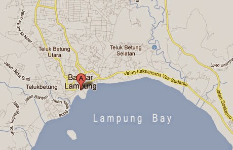 beaches of Lampung bay