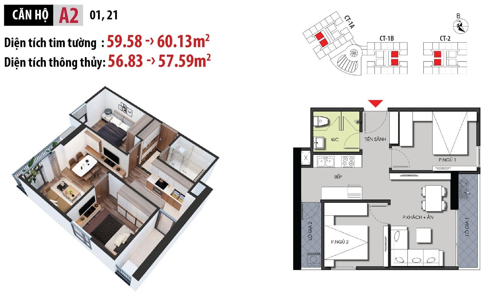Mặt bằng chi tiết căn hộ 01 - 21 dự án chung cư Hateco Apollo Xuân Phương