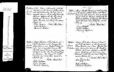 Climbing My Family Tree: Birth and Baptism Record  in Beauharnois Siegniory in Lower Canada for Andrew McFarlane (1834 - ?)