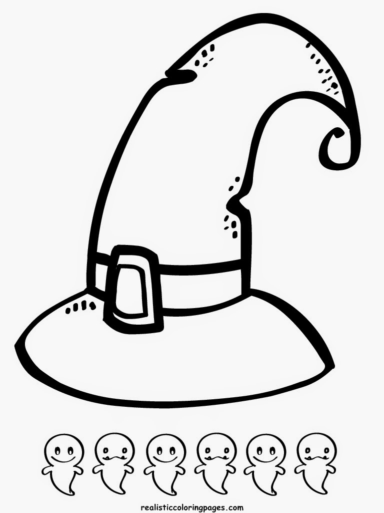 scarry halloween coloring page witches hat