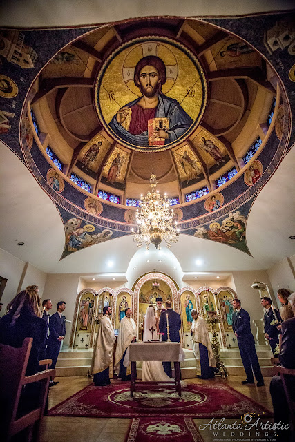 greek church in Atlanta by www.atlantaartisticweddings.com