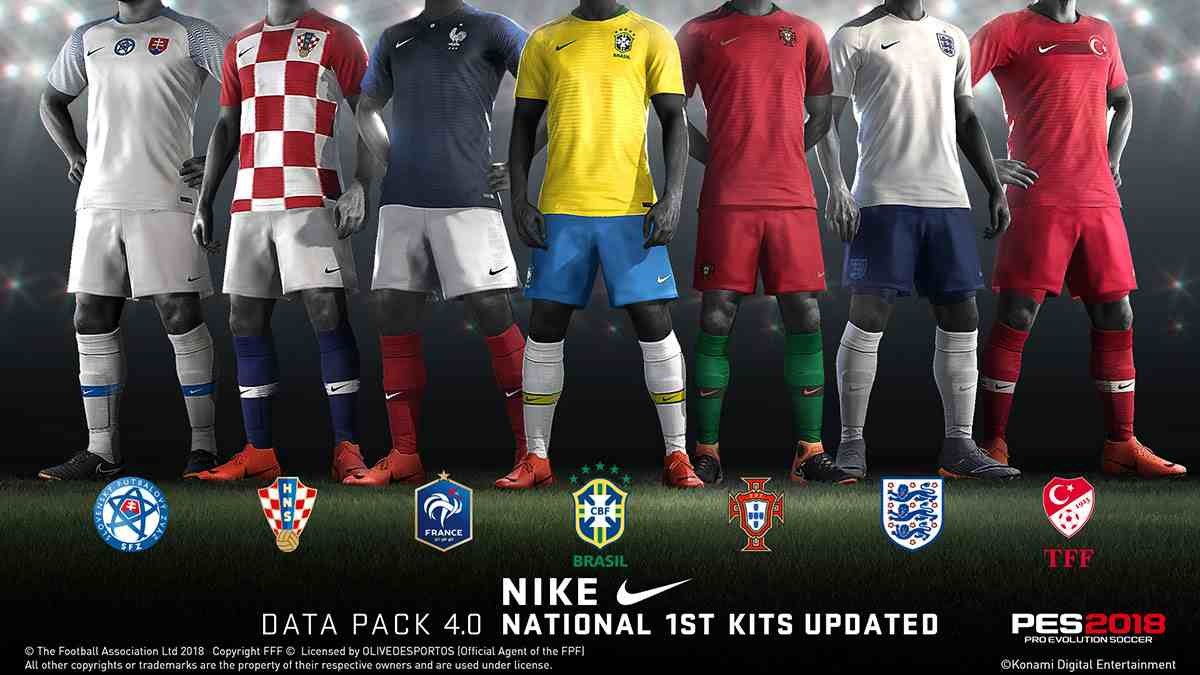00181cbbcfa PES 2018  PS3  Datapack 4.0 (DLC 4.0) + Official Update 1.06. Datapack 4.0  Content   Updated models of the National Team kits