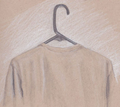 G SIvitz, drawing, sketch, shirt on hanger, art