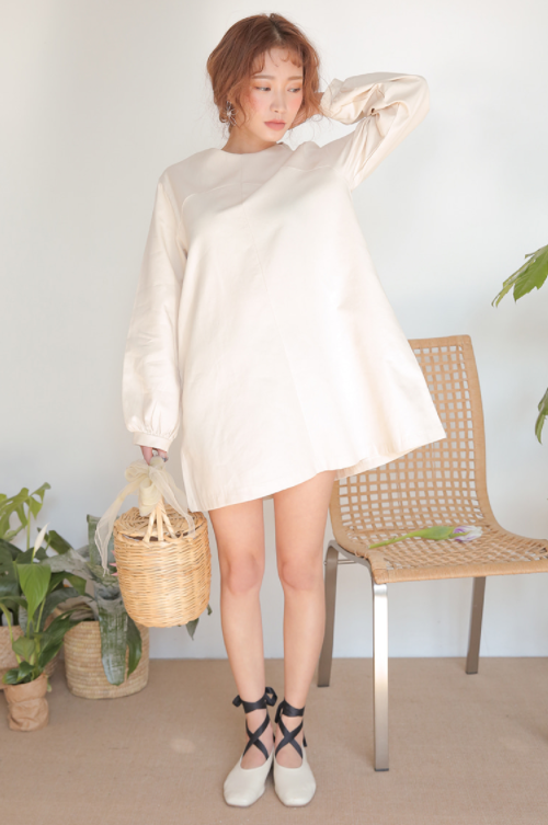 Solid Tone Trapeze Dress