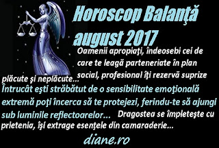 Horoscop august 2017 Balanţă