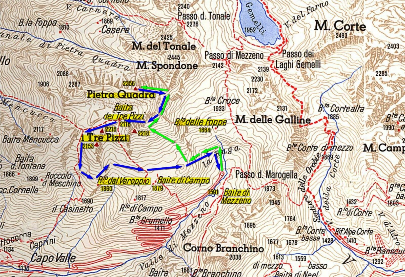 Aria di montagna sentieri delle alpi monte pietra for Piccoli piani di baite