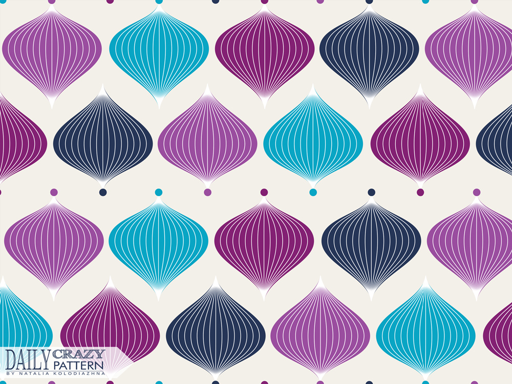 "Vintage pattern for ""Daily Crazy Pattern"" project"