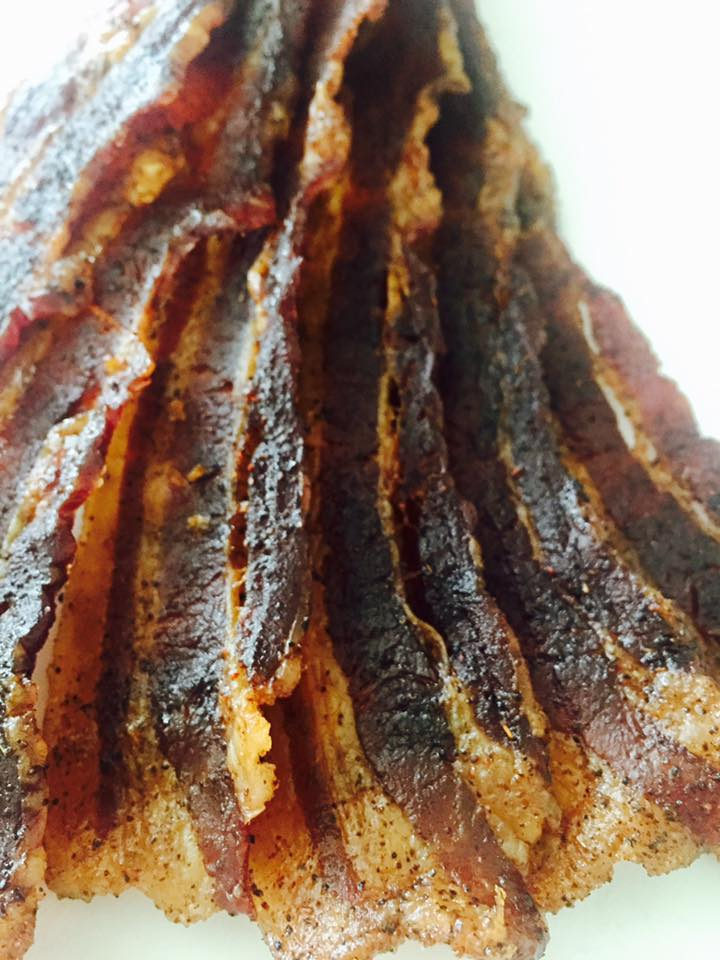 Oven Baked Brown Sugar Bacon Jerky