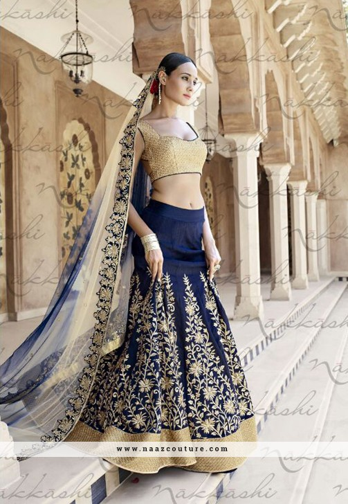 6e2ca9ed5a Engrossing Net And Silk Zardosi Work Designer Lehenga Choli. Design With Net,  Silk, Embroidery, Zari, Diamond, Cut Dana, Zardosi & Resham Work.