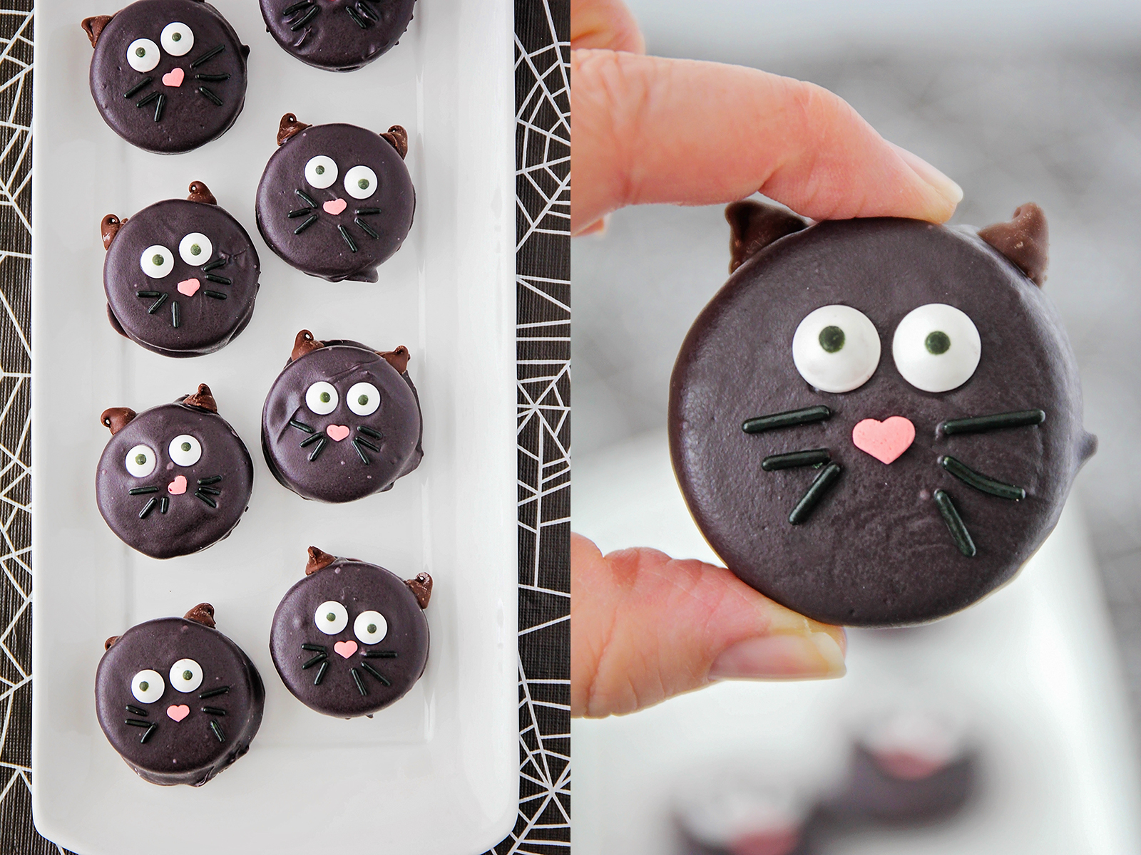 These adorable and delicious Halloween Oreos are so fun to decorate!