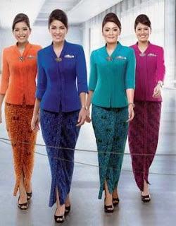 Baju Batik Kantoran Wanita Seragam Elegan Modern