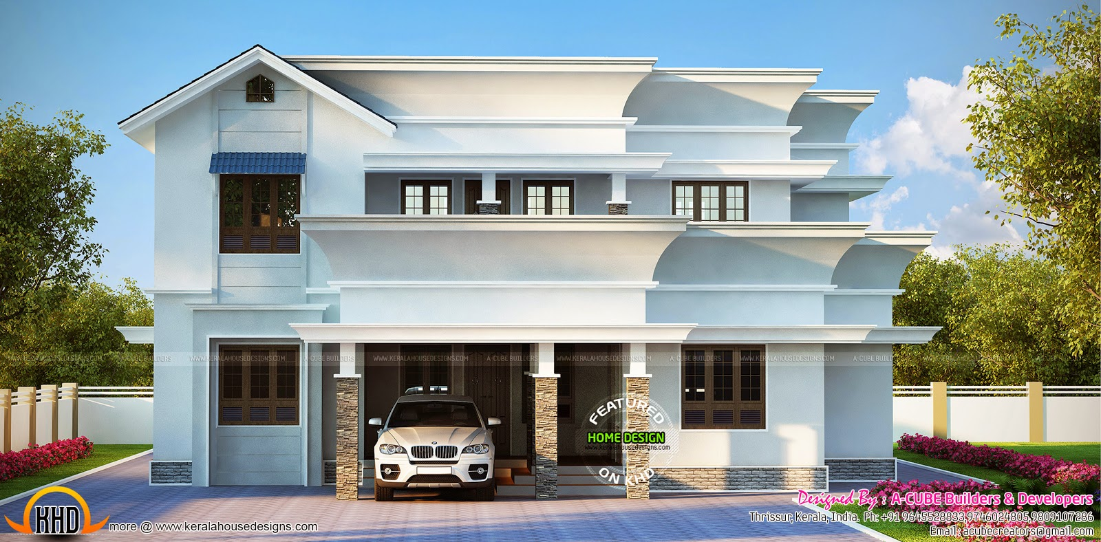 2453 Square Feet 4 Bedroom Home Kerala Home Design And Floor Plans