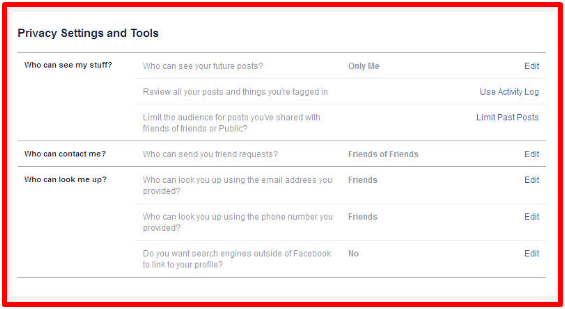 Make Profile Private On Facebook