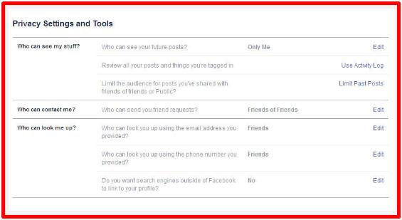 Make Profile Private On Facebook